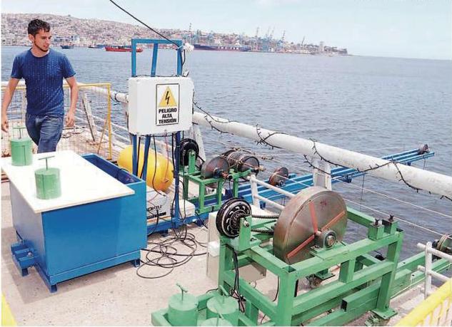 Instalación equipo energía mareomotriz en Valparaíso