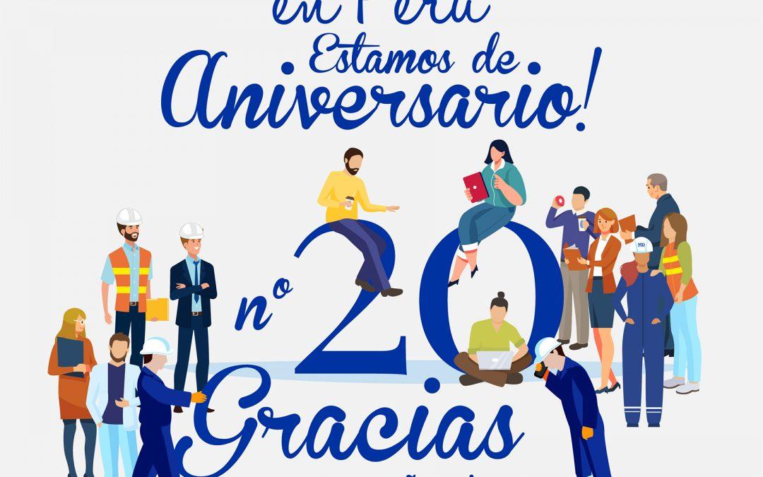 MD Perú celebra su aniversario n°20